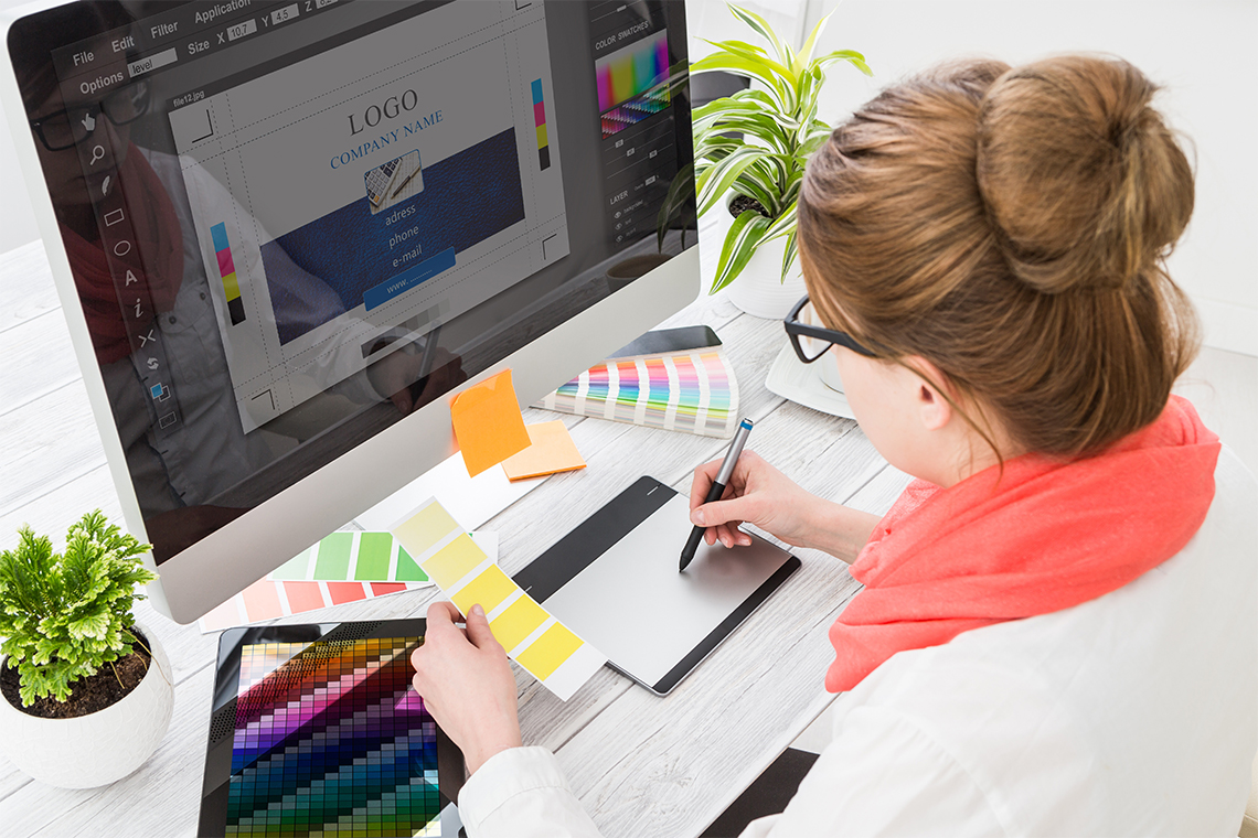 logo design in Photoshop for beginners.